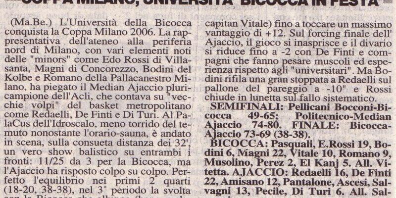 Coppa Milano 2006
